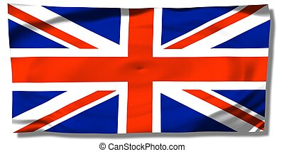 United Kingdom - Union Jack - wrinkled UK flag