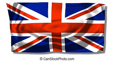 Union Jack - United Kingdom - Union Jack - floating free UK...