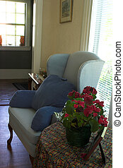 Cosy Wing Chair in Living Room