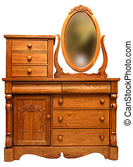Victorian Dresser - Solid Oak 19th Century Victorian Bedroom...