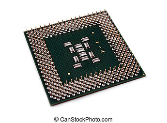 CPU Chip - A computer processor on a white background