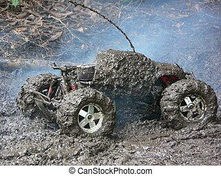 HPI Savage - Mud Bog - mud, mud and more mud. my remote...