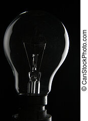 Light bulb in the dark - Clear lightbulb in the dark