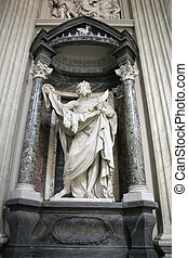 Saint Bartholomew - Statue of Saint Barholomew, the martyred...