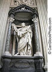 Saint Bartholomew - Statue of Saint Barholomew, the martyred...