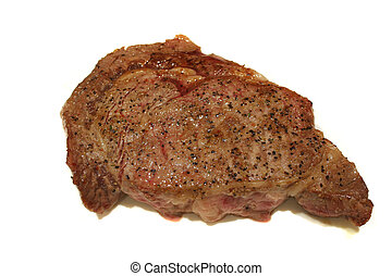 Broiled Steak - Ribeye steak seasoned and broiled ready to...