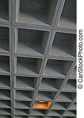 Concrete Cubes - An Industrial ceiling formed of concrete...