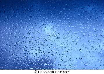 blue droplets - Nice dark blue droplets close-up background...