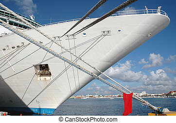 Cruise Ship Docked - Cruise ship docked in Cancun, Mexico...
