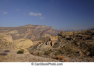 Apache Trail\\\'s Route - Apache Trail thru steep-sided Fish...