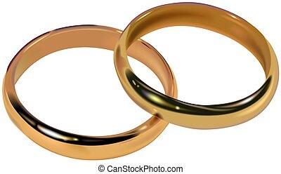 Wedding Rings 01  - High detailed vector illustration.
