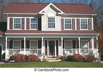 Colonial Home 6 - New Home country or colonial style with...