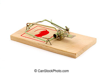 Mousetrap with white background