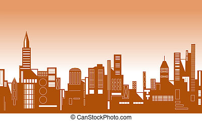 Skyline - Vector illustration of a city skyline