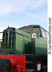 Diesel Locomotive - Vintage Diesel Railway Engine at a...