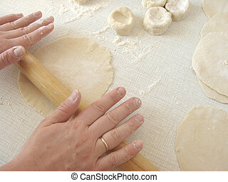rolling out dough 1