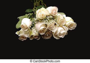 Closeup of a Dozen White Roses - Image of a Dozen White...