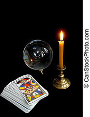 Tarot - Still-life from subjects of the magician of...