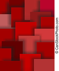 Shades of Red Squares, Abstract Art Background