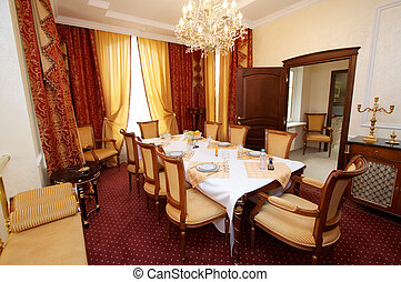 dining table - Dining table in beautiful and rich hotel