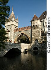 Vajdahunyad Castle in the Varosliget district of Budapest in...
