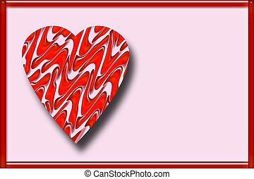 Valentine Heart - A valentine background with a patterned...