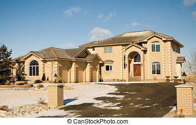 Dream home - Two-story upper class brick luxury home with...