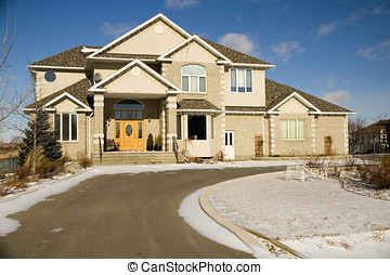 Dream home - A two story brick luxury home.