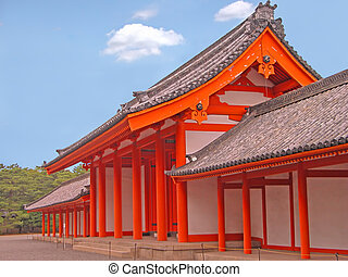Kyoto Imperial Palace gate - Image of one of the Kyoto...