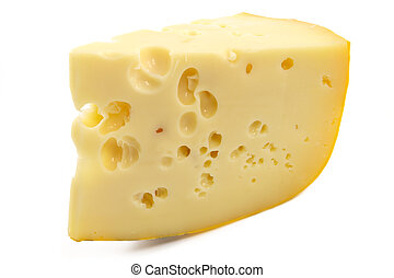 Cheese - Piece of cheese isolated on a white background