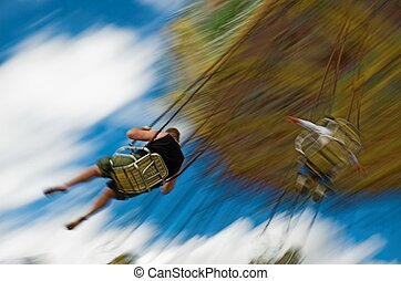midway - Swings at major midway with blur of motion -...
