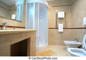 shower cubicle - Bathroom with a shower cubicle in hotel