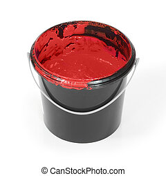 Paint in bucket w clipping path
