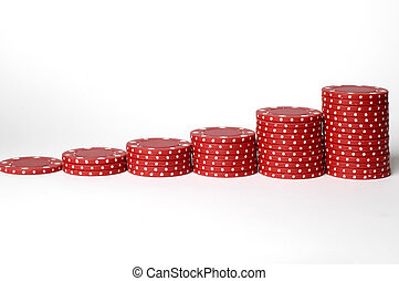 Risk Chart - A set of poker chips arranged into a bar chart...
