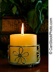 Candle With Ornate Holder