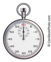 Stopwatch\\\'s top view (3d render)