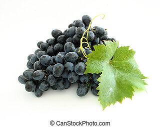 azul, uva, cacho
