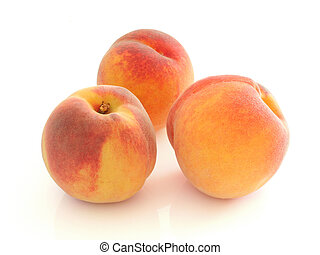 Peaches - Three peaces w clipping path