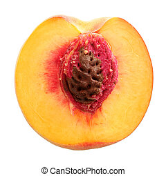 Half peach (w clipping path)