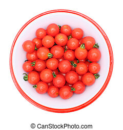 Small tomato - Top view of small tomatoes