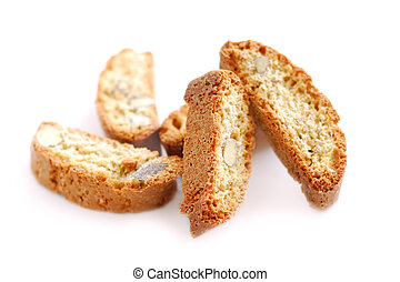 Biscotti - Traditional italian almond biscuits - biscotti,...