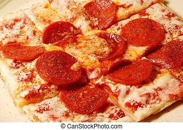 Pepperoni and Cheese Pizza - A personal size pepperoni pizza...