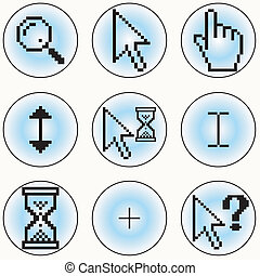 Computer cursor icons - A selection of different cursor...
