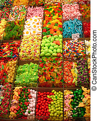 sweets background - sweets on a market - Mercat de la...