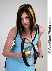 Woman ready to serve - A beautiful young woman is ready to...