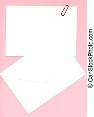 notepaper and envelope - memo notepaper and envelope over...