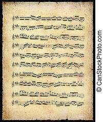Vintage Music sheet - Vintage Music Sheet With Clipping Path...
