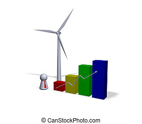 wind energy statistics - diagram, wind turbine and play...
