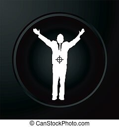 target businessman - A businessman in a target in white...