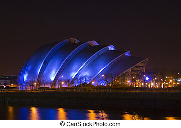 nighttime armadillo - Glasgows so-called Armadillo building...